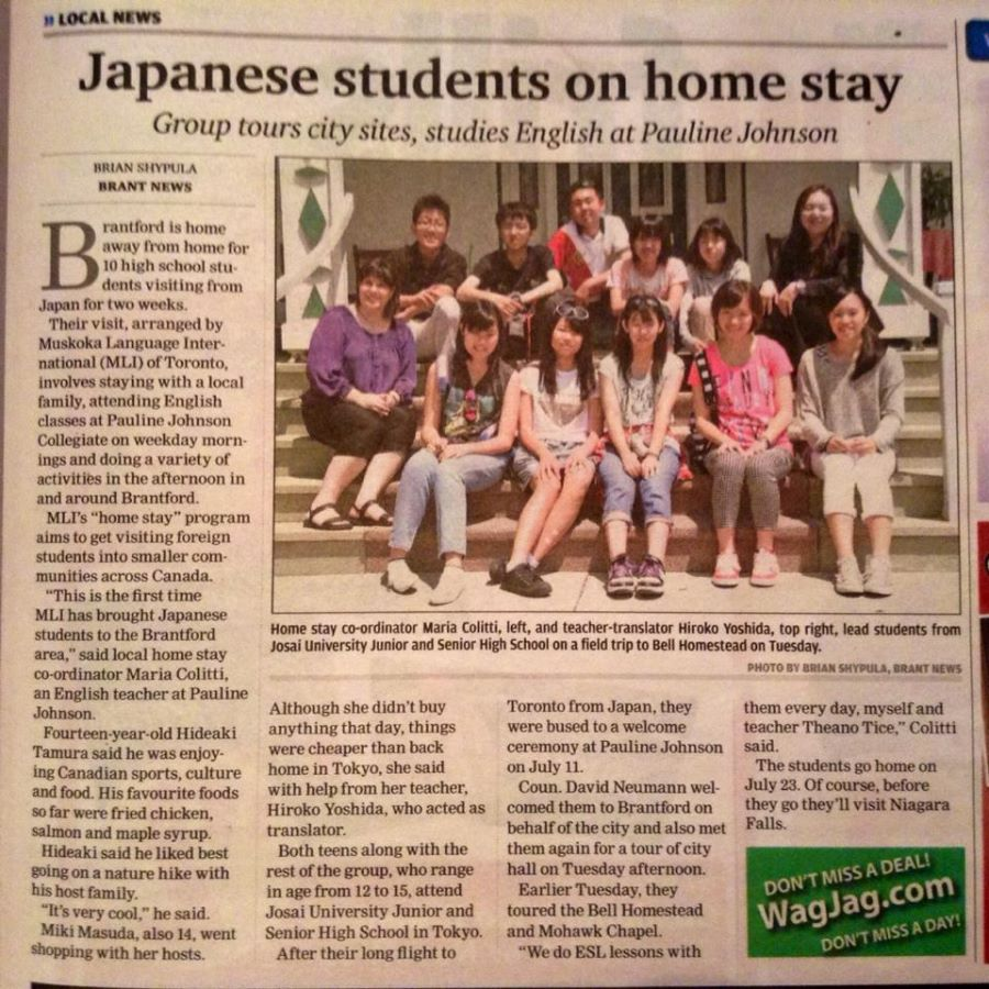 Japanese students on home stay