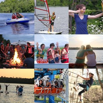 international students enjoying summercamp at lakefield in canada