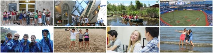 international students enjoying summercamp at st. michael's in canada