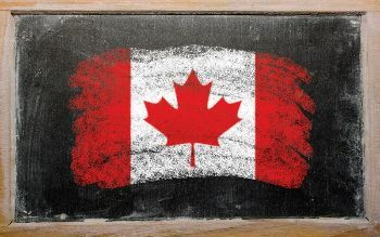 Canadian flag blackboard